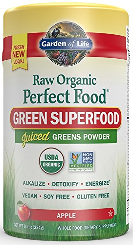 Garden-of-Life-Vegan-Green-Superfood-Powder-Raw-Organic-Perfect-Whole-Food-Dietary-Supplement-Apple-82oz-234g-Powder