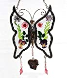Special Friend New Butterfly Suncatchers Glass Friend Wind Chime with...