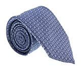 Canali Blue Micro Geometric- floral Tie for mens