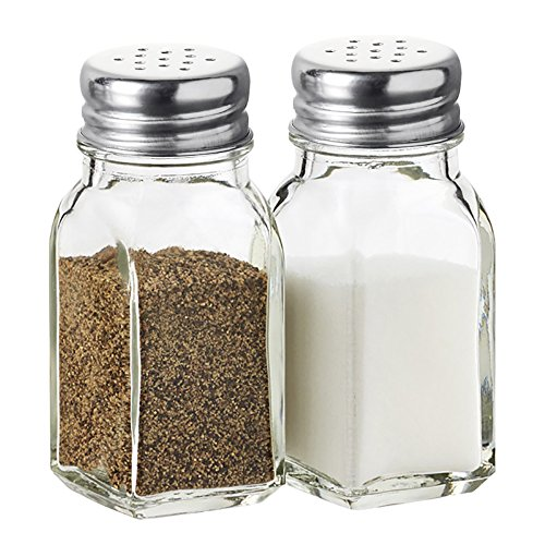 - Salt and Pepper Shakers Glass Set (Clear)