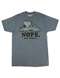 Peanuts Snoopy Nope Not Today Graphic T-Shirt