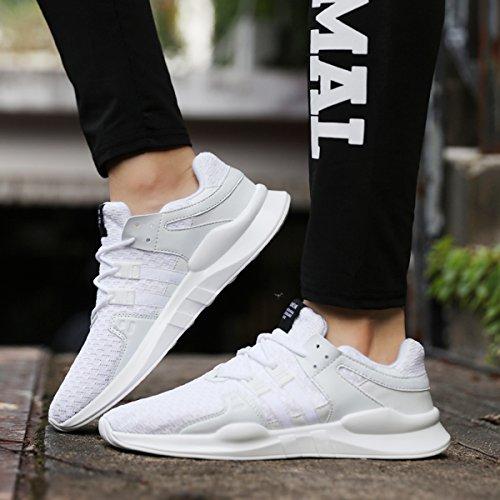Sneaker Leichtgewicht Lace Freizeitschuhe Laufschuhe Atmungsaktiv Outdoor Herren Trainer Sportschuhe up Gym Weiß Shoes SITAILE Turnschuhe wAX7HSqR