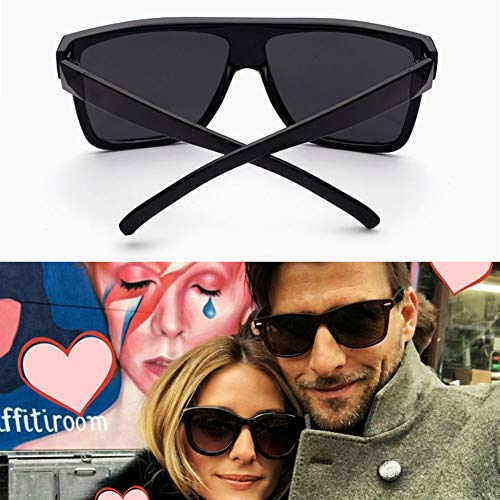 de Grande Unisex Gran Sol de Sol conducción de Ultravioleta HD UV400 Estilo Marco Cool con de Mujer Gafas Gafas de Pareja tamaño Sol para de So Retro Hombre Gafas Negro White para de Black qwYET