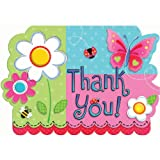 Garden Girl Thank YOU Cards