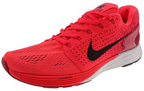 Nike Blk gym Rosso Nero 7 Rd Crmsn Lunarglide Brgn Uomo Bianco da Ginnastica dp Scarpe Brght STSwpq