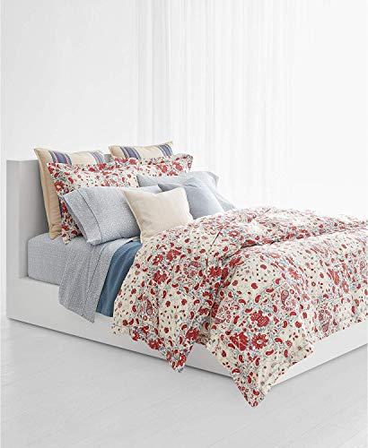 (Ralph Lauren 3 Pc. King Duvet Cover Set Kelsey Multi Color 100% Cotton)