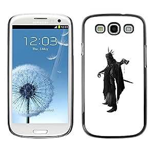 LECELL--Funda protectora / Cubierta / Piel For Samsung Galaxy S3 I9300 -- Death Apocalypse Black Cape Axe Futurism Sword --
