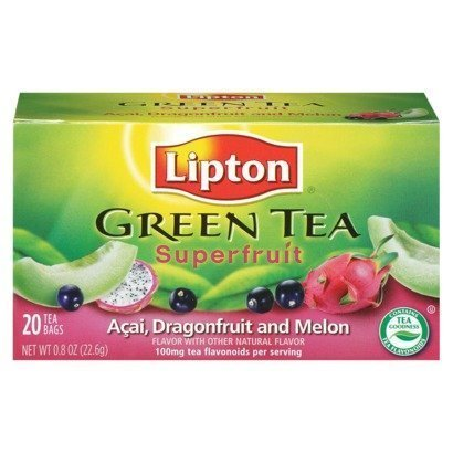 Lipton, Green Tea Bags, Acai Dragonfruit Melon, 20 Count, 0.8oz Box (Pack of 3) by Lipton (Green Tea Melon Tea)