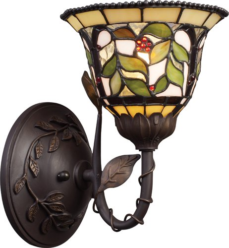 Sconce Brass Tiffany - Elk 08014-Tbh Latham 1-Light Sconce, 10-1/2-Inch, Tiffany Bronze With Highlight