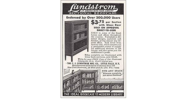 Amazon Com Relicpaper 1935 Lundstrom Sectional Bookcase