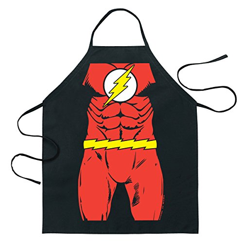 ICUP DC Comics - The Flash Be The Character Adult Size 100% Cotton Adjustable Black Apron (Apu Halloween Costume)