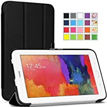 Tisuns Samsung Galaxy Tab E Lite 7.0 Case - Ultra Slim Lightweight Stand Cover for Samsung Galaxy Tab 3 Lite 7.0 SM-T110 / SM-T111 / Tab E Lite SM-T113 7-Inch Tablet, Black