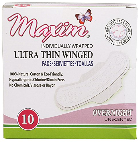 Maxim Hygiene Products Ultra Thin Winged Pads, Super, 10 Count