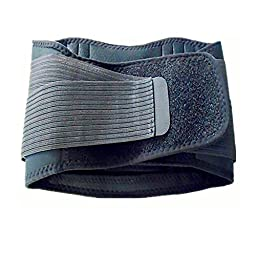 Adjustable Back Brace w/Removable Pad Support Belt for Treatment of Sciatica, Scoliosis, Herniated Disc or Degenerative Disc Disease - Medium