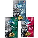 Blue Buffalo Wilderness Trail Treats Grain-Free Wild Bits Dog Treats - 3 Flavors (Salmon, Chicken, & Duck) - 4 Ounces Each (3