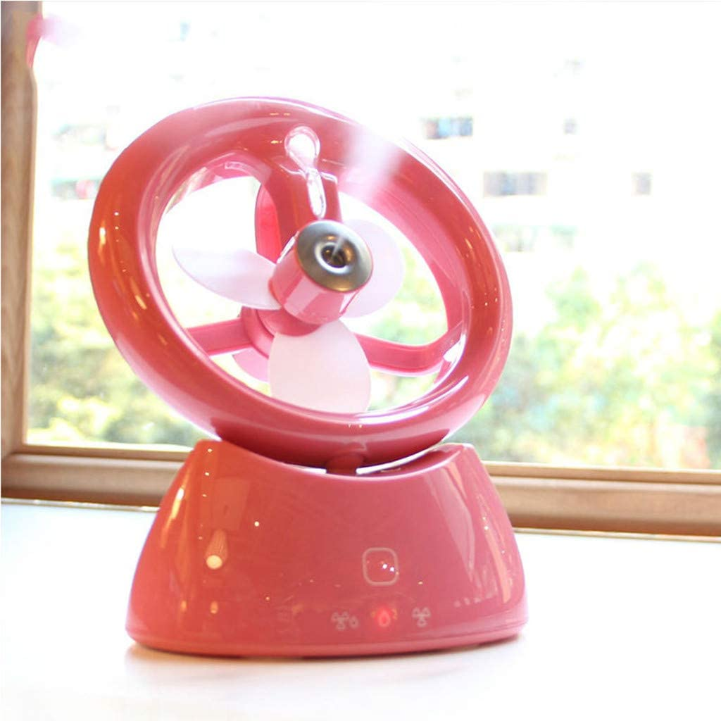 Libison Mini Handheld Fan Handheld USB Misting Fan Personal Portable Desk Electric Fan Preventing from Heat Stroke Rechargeable Batter Operated Electric Fan for Home and Office White