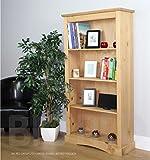 Corona Rustic Medium Bookcase Light Fiesta Waxed Solid Pine
