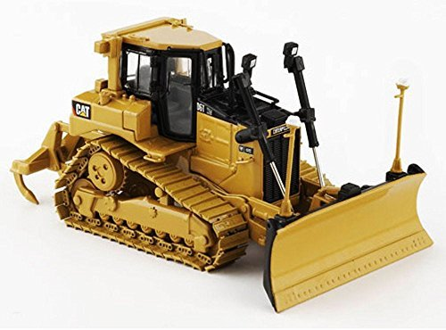 Norscot Caterpillar D6T XW Vpat Track-Type Tractor w/ Accugrade GPS, Yellow 55197 - 1/50 Scale Diecast Model Toy Car