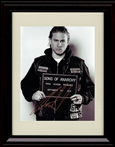 Framed Sons of Anarchy Autograph Replica Print - Charlie Hunnam