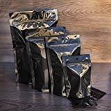 1000 Pcs Mylar Bag Super Black with 3.5'' x 4.5''