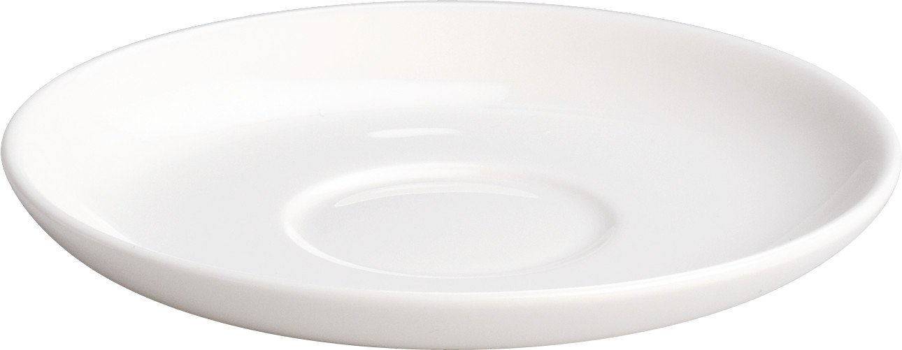 Alessi''All-Time'' Saucer For Mocha Cups in Bone China (Set of 4), White