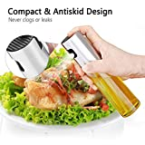 Olive Oil Sprayer, Neiup Oil & Vinegar Sprayer/Oil Spray Mister With Pump 100ml Stainless Steel & Glass for BBQ, Salads, Cooking, Baking, Grilling, etc 100% Food Safe