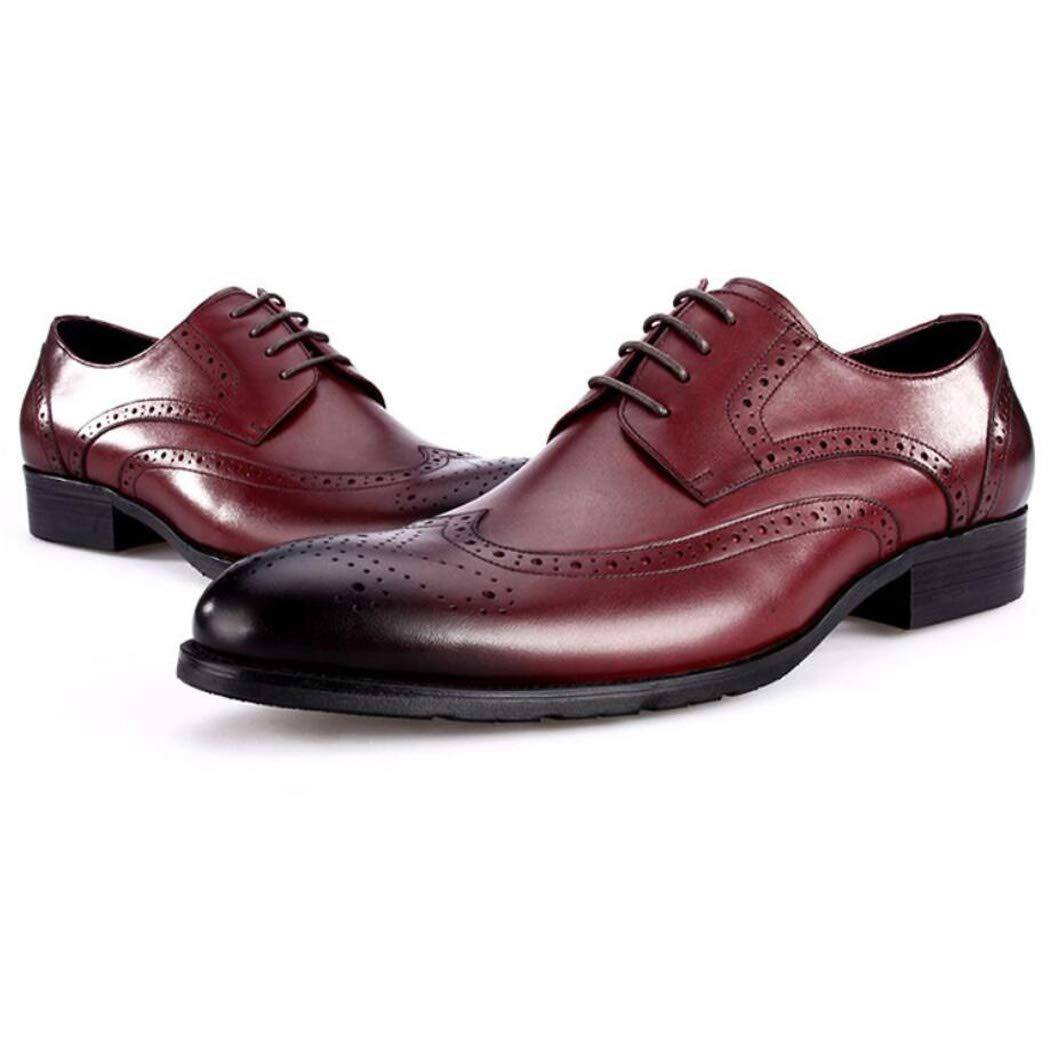 Zxcvb Herbst und Winter Herren Leder Wildleder Retro Brock Carved England Trend Schuhe Herren Freizeitschuhe