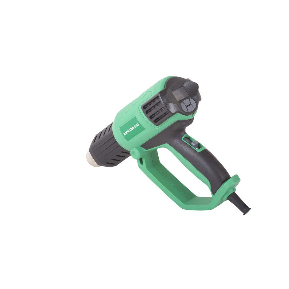 Metabo HPT RH650V Heat Gun, Variable Heat and Fan Settings, LCD Display, Includes Glass Protector Nozzle, Spreader Nozzle, Hook Nozzle, Concentrator Nozzle, Handheld Scraper, Storage Case