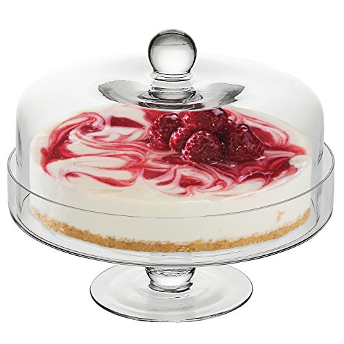 Clear Dessert Pedestal Display Handled