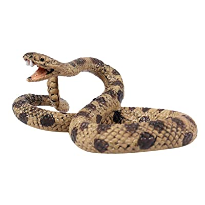 BESPORTBLE Realistic Snake Cobra Plastic Toy Jungle Animal Viper Statue Model Scary Prank Toys Fake Snake Figures Props Educational Snake Model Toys (Rattlesnake Style): Home & Kitchen