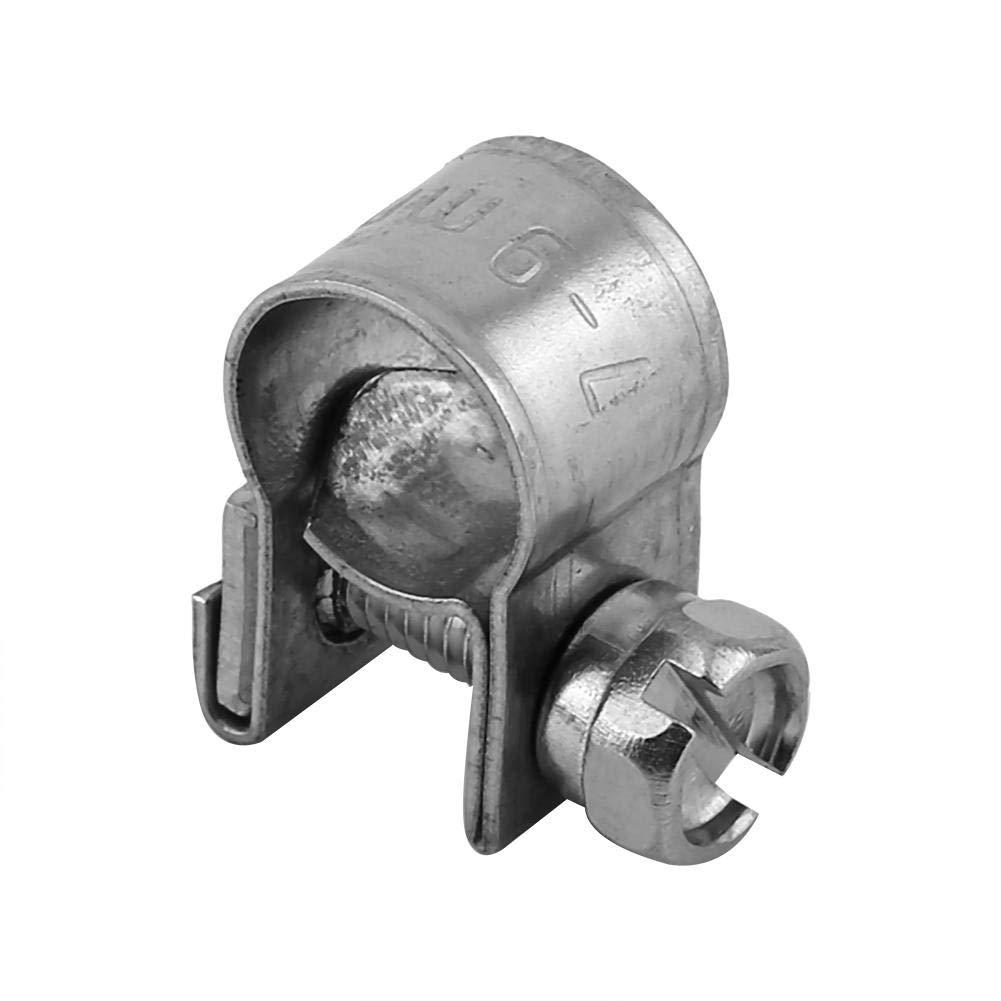 colliers serrage Essence argent /10/mm 10/pi/èces Colliers de serrage pour tuyau carburant en acier inoxydable 6/ 6//–/8/mm
