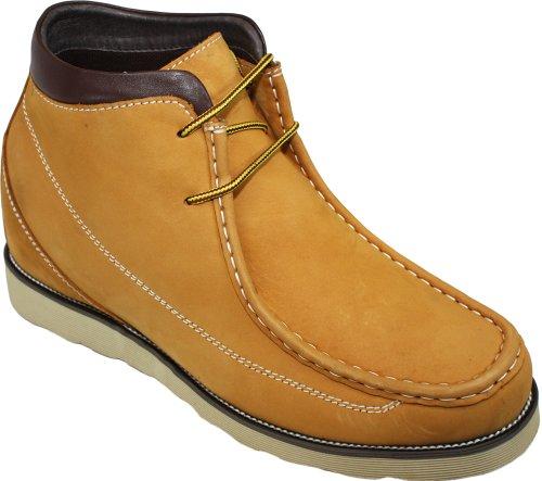 Calden-k228031-7,6cm Grande Taille-Hauteur Augmenter Ascenseur shoes-brown à lacets