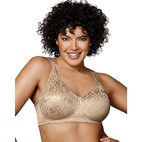 Playtex Womens 18 Hour Ultimate Lift & Support Wirefree Bra(4745)-Nude-42D