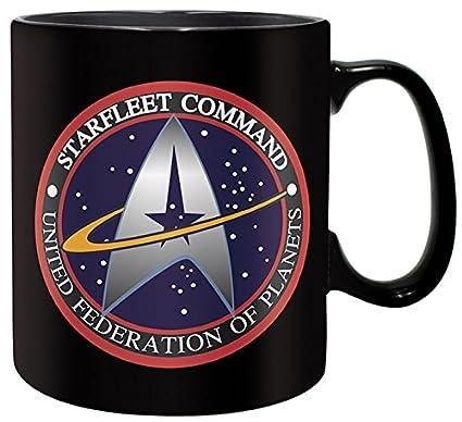 Taza de Star Trek Starfleet Command negra cerámica 460ml