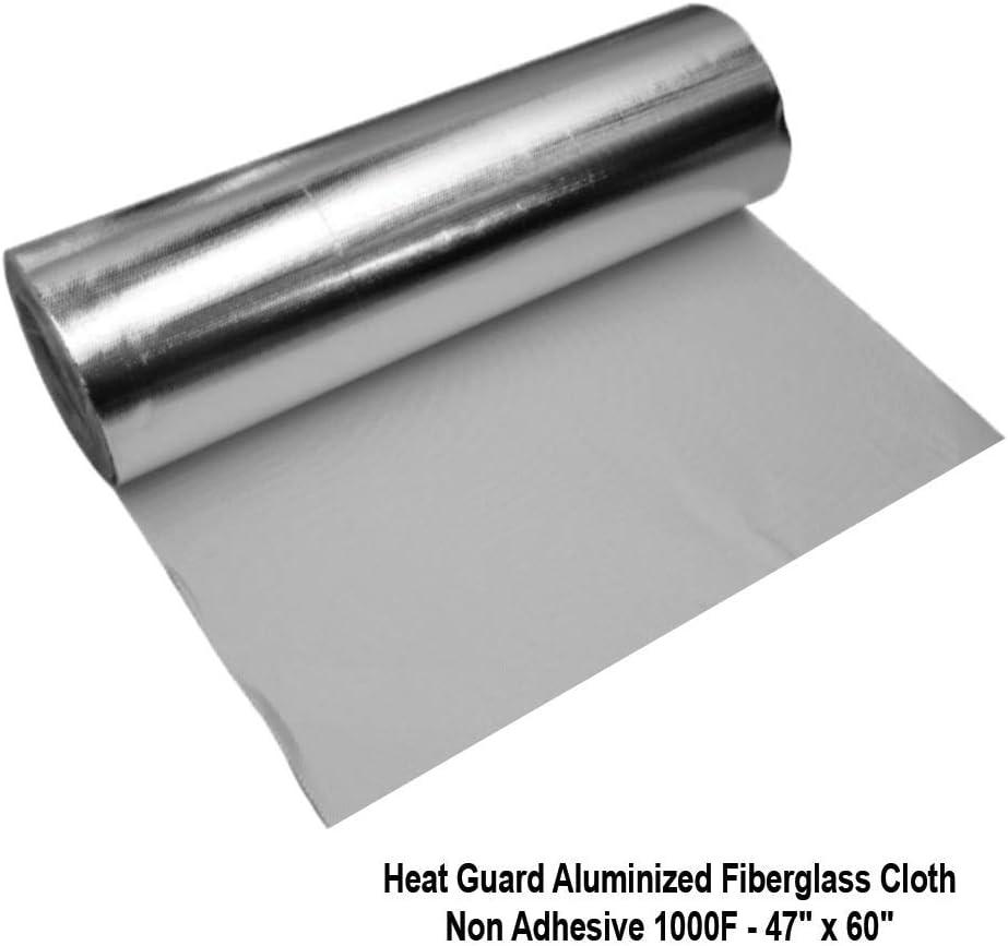 48 x 60 Radiant Heat Guard Heat Guard Aluminized Fiberglass Mat Non Adhesive,1000 F