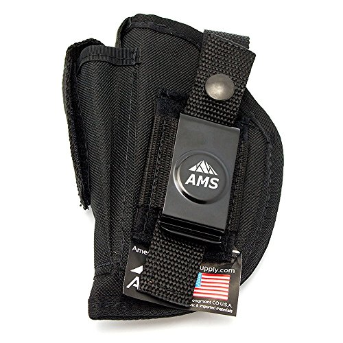 Belt Clip Concealed Gun Holster by American Mountain Supply for Full Size Semi Automatics Pistols Fits Compact Frames w 4-5
