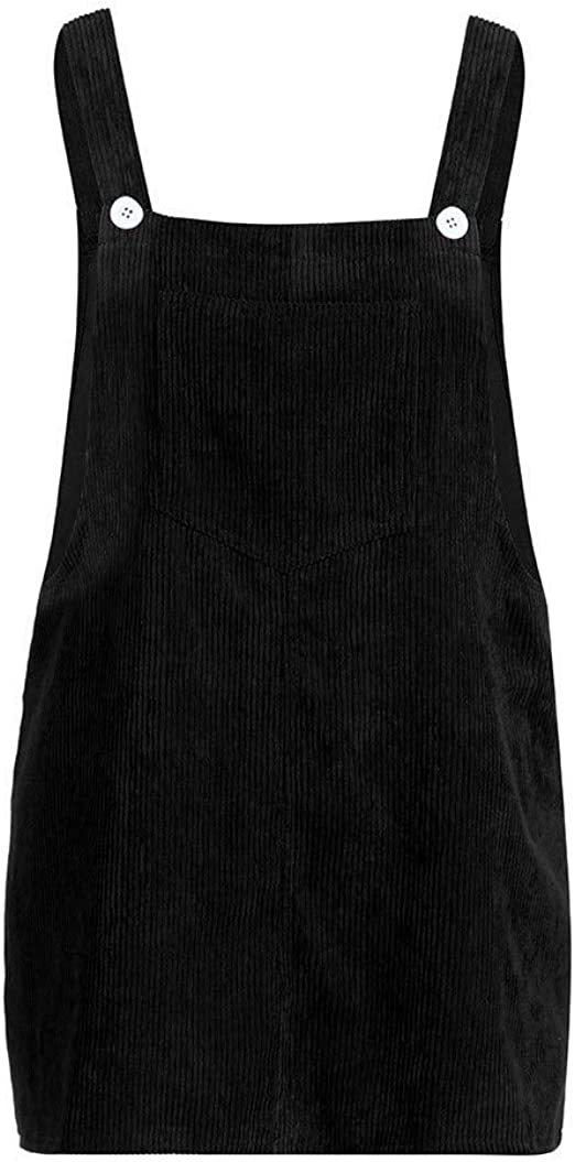 QinMM Petos de Falda Mini Vestido de Pana de Mujer: Amazon.es: Ropa y accesorios