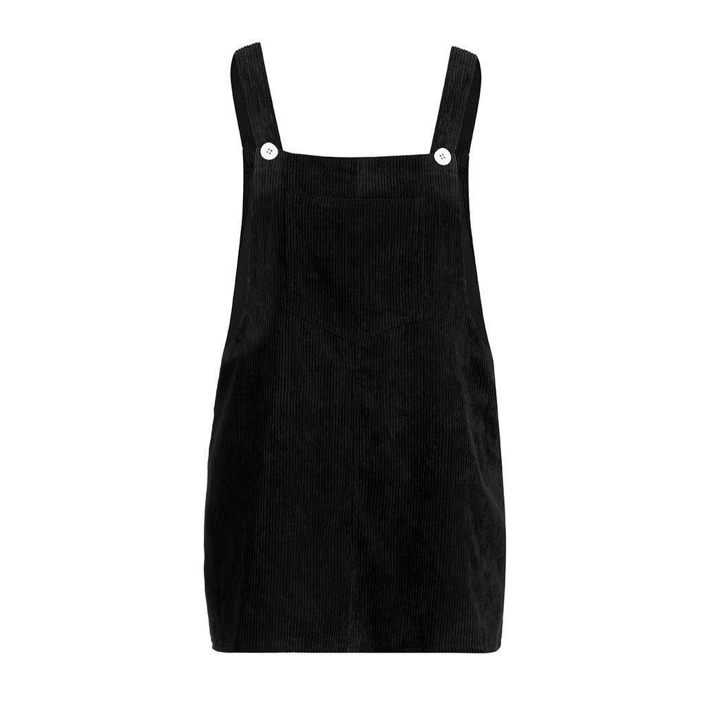 c39db46953 Amazon.com  Sunward Women s Pinafore Dress Corduroy Suspender Bib Overalls  Skirt Dress Pocket (Green