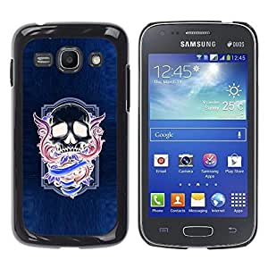 All Phone Most Case / Hard PC Metal piece Shell Slim Cover Protective Case for Samsung Galaxy Ace 3 GT-S7270 GT-S7275 GT-S7272 Neon Purple Skull Wings Blue Purple