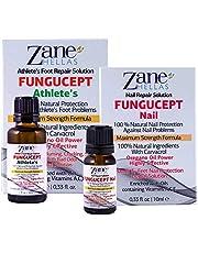 Zane Hellas FunguCept Combo. FunguCept Nail 0.33 fl.oz. y FunguCept Athlete's 1fl.oz.-30ml. Solución de uñas fúngicas y solución para pies fúngicos.