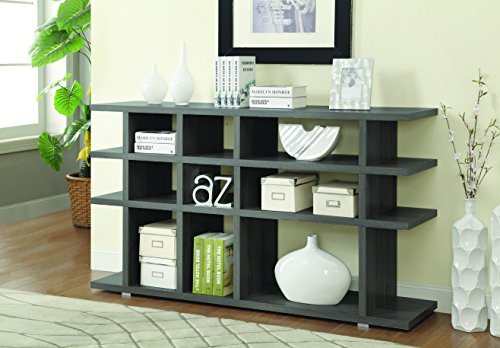 ings 3-Tier Bookcase Weathered Grey ()