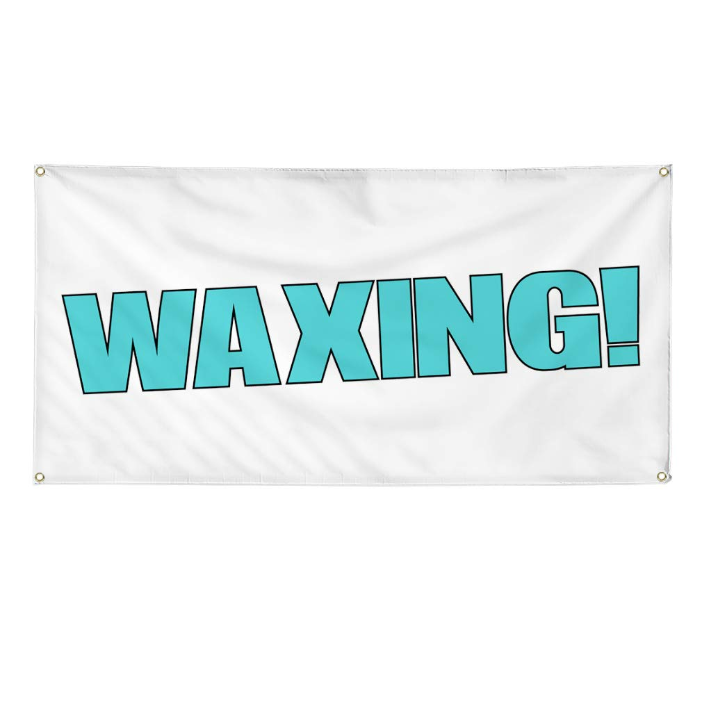 48inx96in Multiple Sizes Available One Banner Vinyl Banner Sign Waxing 8 Grommets Automotive Wax Outdoor Marketing Advertising White