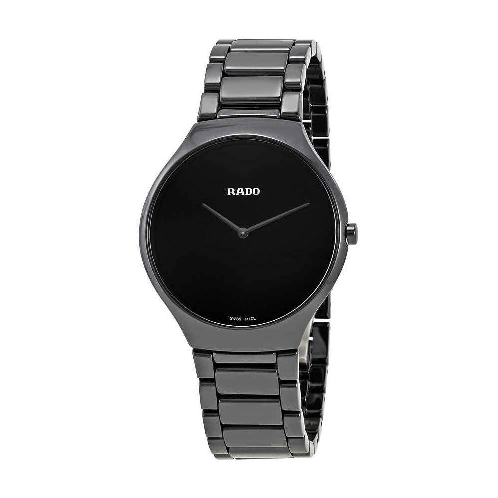 7e4b70a7a Amazon.com: Rado True Thinline Black Ceramic Men's Watch R27741182: Watches