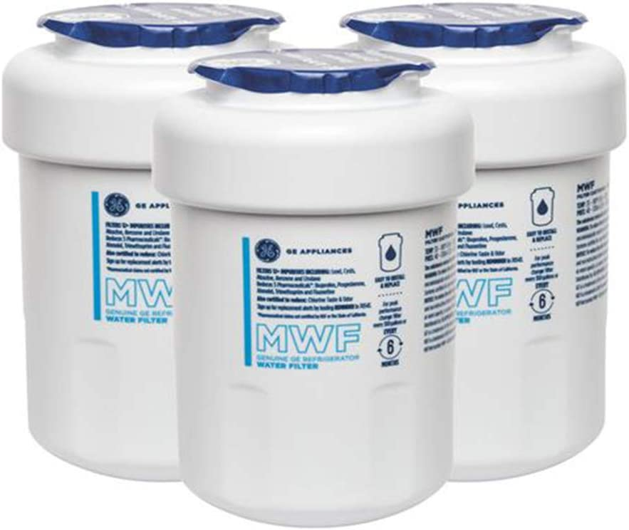 GЕ MWF GE Refrigerator Water Filter Replacement GE MWF Smartwater Filter, 3-Pack