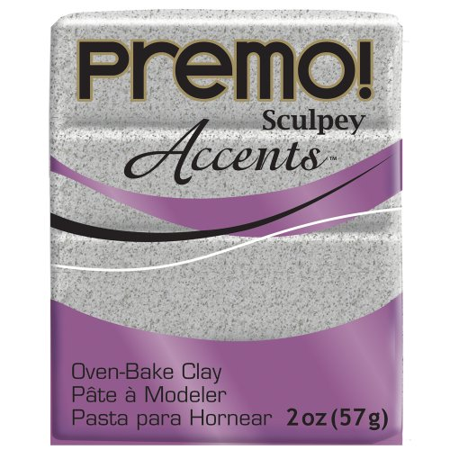 (Premo Sculpey Polymer Clay 2 Ounces-Gray Granite)