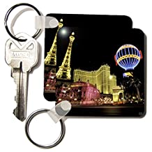3dRose Paris Hotel 2.25 x 2.25 Inches Key Chains, Set of 2 (kc_37789_1)