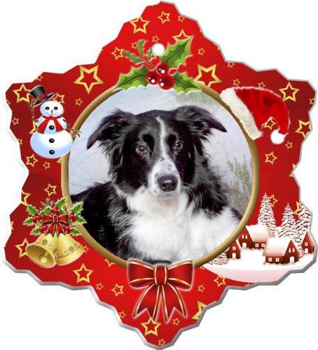 - Border Collie Porcelain Holiday Ornament