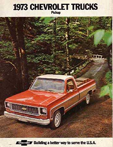 - 1973 Chevrolet Pickup Truck Sales Brochure Literature Book Piece Advertisement