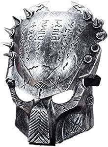 قناع المحارب من Iron warrior Masks Man Supper Alien Predator Mask Warrior Movie Prop avpr lone Wolf لحفلة الهالوين