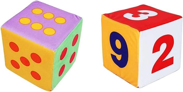 IPOTCH 2 Pedazos Dados Gigantes de Puntos y Números de Espuma D6 Juguet Creativo para Niños: Amazon.es: Juguetes y juegos